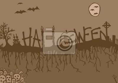 Halloween-Nacht vintage