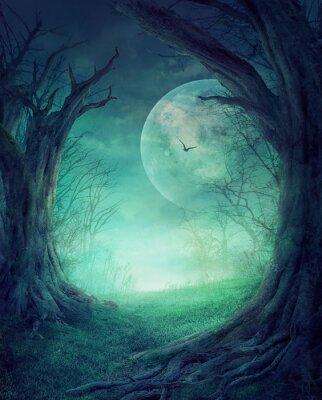 Poster Halloween Spooky Wald
