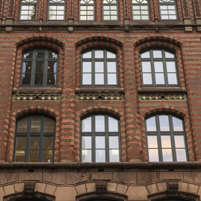 Hamburg, Deutschland. Typische Details der Architektur der Stadt