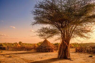 Hamer Dorf nahe Turmi, Äthiopien