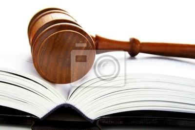 Hammer die Verlegung auf einem offenen Buch Recht