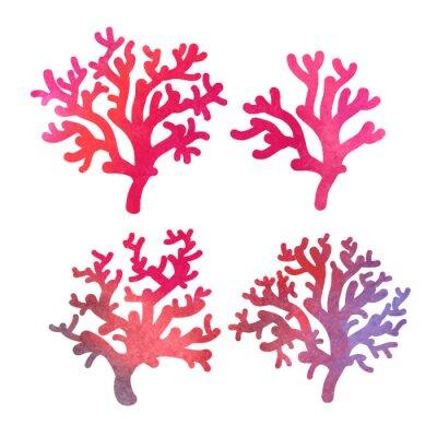 Poster Hand gezeichnet dekorative Aquarell Korallen