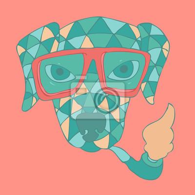 Hand gezeichnet Vektor Mode Hund