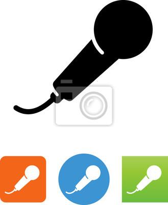Hand-mikrofon-symbol - abbildung wandposter • poster Audiosystem ...