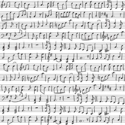 handgeschriebenen Noten