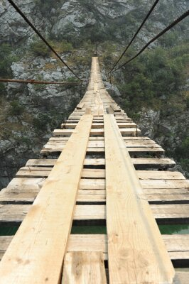 Poster Hängebrücke in der Schlucht