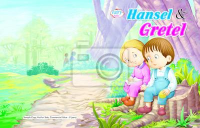 Hänsel Und Gretel Geschichte Deckblatt Wandposter Poster Hänsel