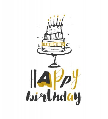 Happy birthday typographic design with vector illustration for your design.