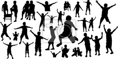 Happy Kids Silhouetten