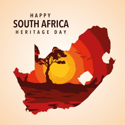 Poster happy South Africa heritage day poster