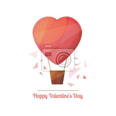 Happy valentinstag vektor-illustration in modernen geometrischen ...