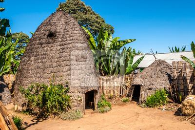 Häuser des Stammes Dorze