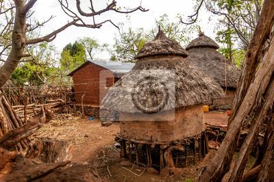 Häuser des Stammes Konso