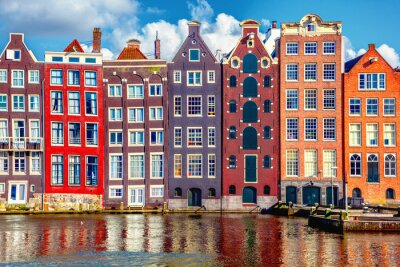 Poster Häuser in Amsterdam