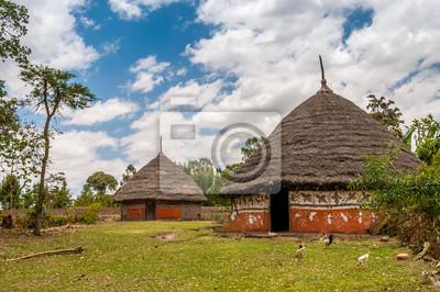 Häuser in der äthiopischen Land