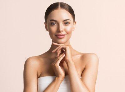Poster Healthy skin woman natural make up beauty face closeup