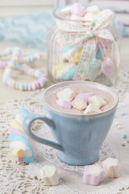 Poster Heiße Schokolade mit Marshmallows