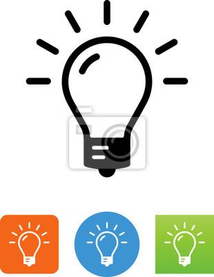 Helle glühbirne icon - illustration wandposter • poster Glyphen ...