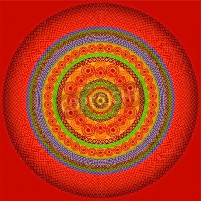 Poster Henna Mandala Design