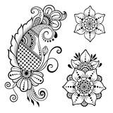 henna tattoo blume vorlage mehndi stil set von ornamentalen wandposter poster komplizierte. Black Bedroom Furniture Sets. Home Design Ideas