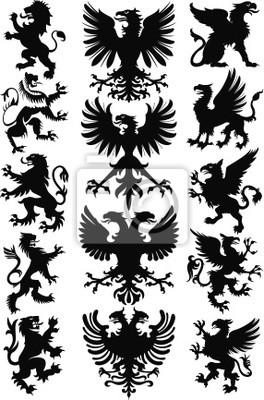 Heraldische Tiere Vektor-Silhouette