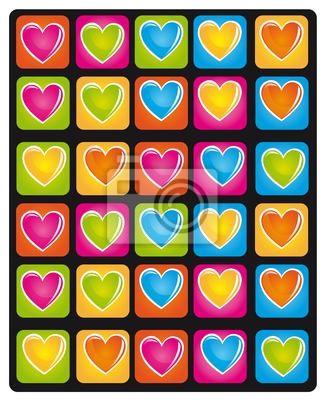 Poster Herz Farben