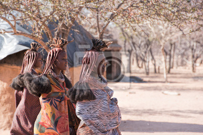 Poster Himba village in Namibia