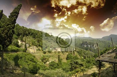 Himmel über toskanischen Landschaft in Casoli