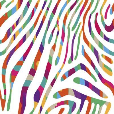 Poster Hintergrund mit bunten Zebra Hautmuster