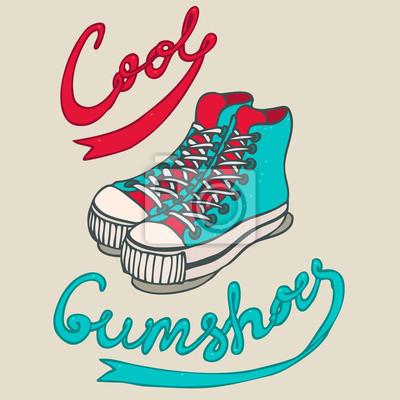 hipster gumshoes, Vektor-Illustration, Hand gezeichnet