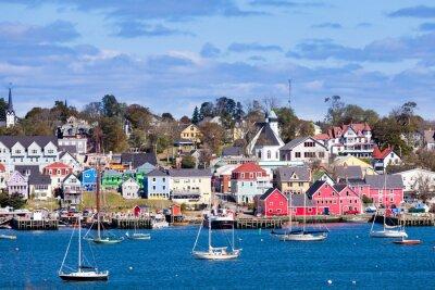 Poster Historic Lunenburg harbor Nova Scotia NS Canada
