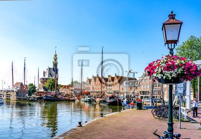 Poster Historischer Hafen Hoorn, Holland