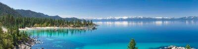 Poster Hochauflösende Panorama von Lake Tahoe mit Blick auf Sand Harbor State Park