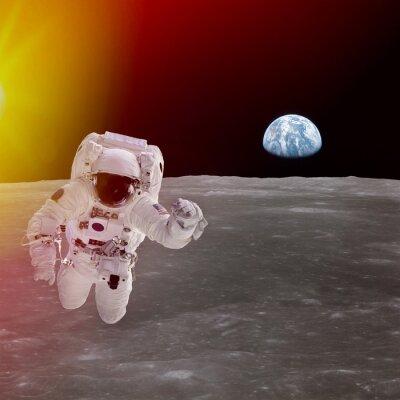 Poster Hochwertige isoliert Verbund Astronaut im Raum; Elemente