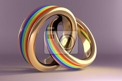 Hochzeit Ringe Symbolisiert Die Gleiche Sex Ehe Wandposter Poster