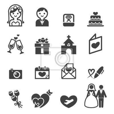 Hochzeit Symbol Wandposter Poster Hochzeitsreisende Brautschleier