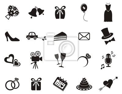 Hochzeit Symbole Wandposter Poster Nur Kleiderbugel Handtasche