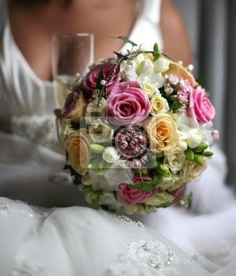 Hochzeitsstrauss Wandposter Poster Wed Braut Rosen Myloview De