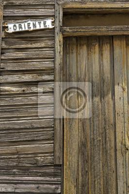 Holztür in Oriente Straße, Guantanamo