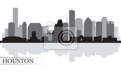 Houston Skyline Silhouette Hintergrund