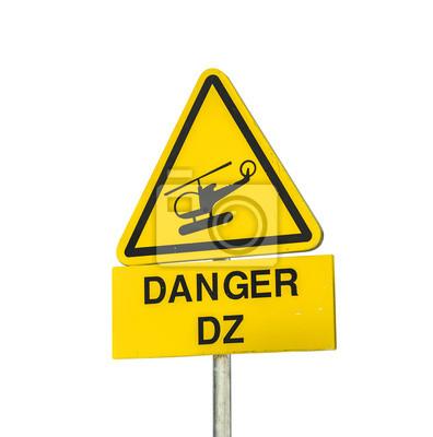 Hubschrauber Gefahrenzeichen