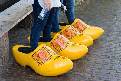 huge wooden shoes