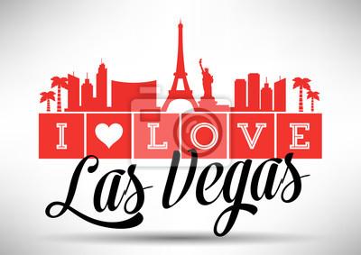 I Love Las Vegas Skyline Design