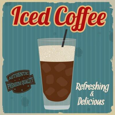 Poster Iced Kaffee Retro-Plakat