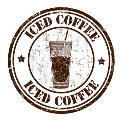 Poster Iced Kaffee Stempel
