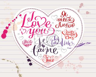 Ich Liebe Dich Text In Englisch Spanisch Franzosisch Deutsch