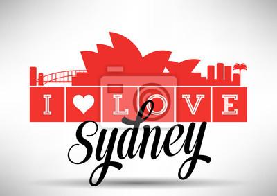 Ich liebe Sydney Skyline Design