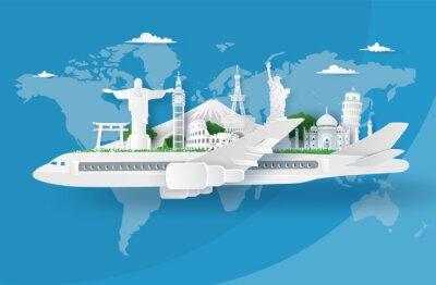 Poster Illustration of world tourism day