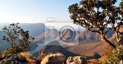 Poster in Südafrika River Canyon Pflanze und Wasser