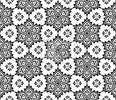 Indian Nahtlose Muster Repetitive Mehndi Design Wandposter Poster